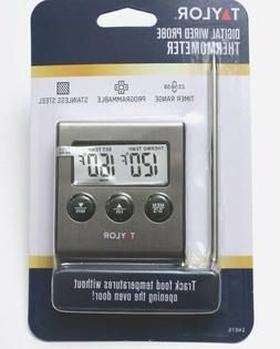 NEW Taylor Digital Oven Cooking Remote Probe Thermometer wit