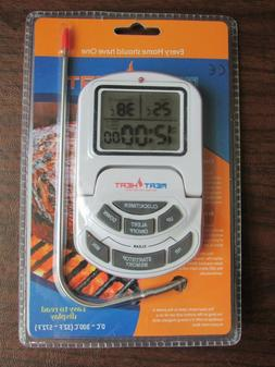 Meat Heat Oven Thermometer with Heat Resistant Probe and Dig