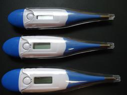 Pack of 3 Oral Digital Thermometer Flexible Tip