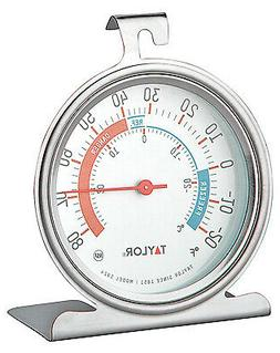 5924 Refrigerator/Freezer Thermometer, Dial, Round, 3-In.
