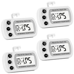4 Pack Digital Refrigerator Freezer Thermometer,Max/Min Reco