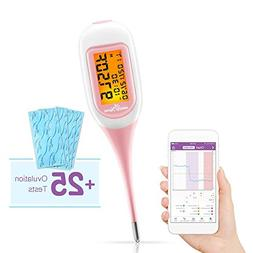 Easy@Home Smart Basal Thermometer with Bonus 25 LH Ovulation