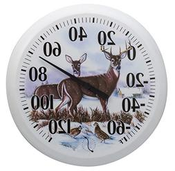 Springfield Outdoor Thermometer, 13.25-Inch, Winter Deer