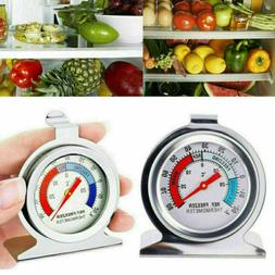 Stainless Refrigerator Freezer Thermometer DIAL Type Easy Ha