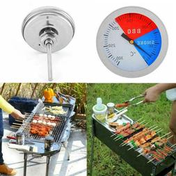 Stainless Steel Barbecue BBQ Smoker Grill Thermometer Gauge