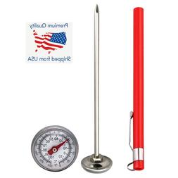 Stainless Steel Pocket Probe Thermometer Gauge for Food Cook