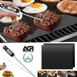 Stainless Steel Probe Food Meat Cooking Thermometer Non Stic