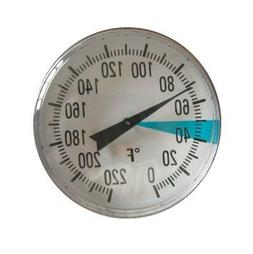 Stainless Steel Soil Thermometer by Smart Choice| 127mm Stem