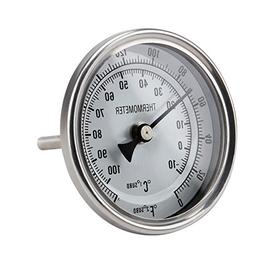 Ferroday Stainless Steel Thermometer Dial Thermometer 1/2 NP