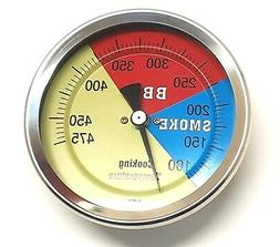 "STM 2"" BBQ SMOKER/PIT/GRILL THERMOMETER TEMP GAUGE 475"