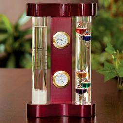Storm Glass Weather Forecaster - Galileo Thermometer Baromet