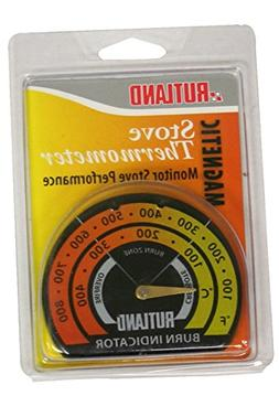 Rutland Stove Metal Thermometer Red, Silver