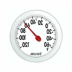 "Taylor 5630 6"" Round Dial Indoor / Outdoor Thermometer w/ Mo"