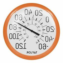 Taylor Big and Bold Dial Thermometer, 13.25-Inch, Orange