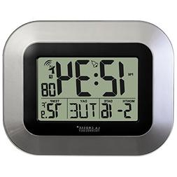 Technology Atomic Digital Home Decor Wall Clock w/ Indoor Te