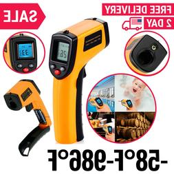 Temperature Gun Non-contact Infrared IR Thermometer Range -5