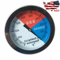 Temperature Thermometer Gauge Barbecue BBQ Grill Smoker Pit