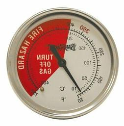 Tempered Glass Fryer Thermometer w/ 50 to 750-Degree Calibra