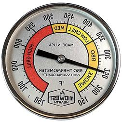 Midwest Hearth Professional Thermometer for Kamado Style Cha