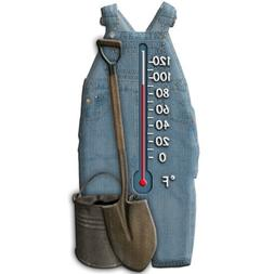 Garden Treasures 5 inch Thermometer Cute Pair of Overalls wi