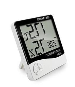 Thermometer Hygrometer Temperature Humidity Meter Clock For