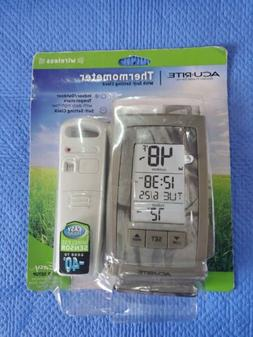 AcuRite Thermometer, Self Setting Clock, Wireless Indoor Out