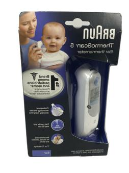 Braun ThermoScan 5 Digital Ear Thermometer, IRT6500, White
