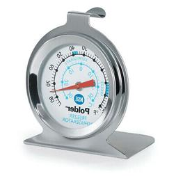 Polder THM-560N Refrigerator/Freezer Thermometer, Stainless