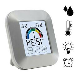Touch Screen Thermometer Weather Temperature Humidity For In