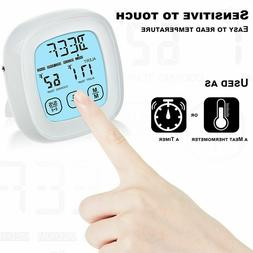 Touchscreen Digital Meat Thermometer/Timer for Grilling,Oven