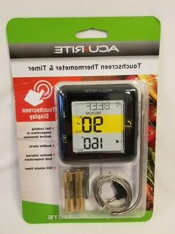 Acurite TOUCHSCREEN THERMOMETER & TIMER with PROBE KITCHEN C