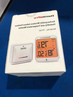 THERMPRO TP-63 RECHARGEABLE WIRELESS INDOOR/OUTDOOR HUMIDITY