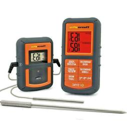 TP08 Wireless Digital Thermometer LCD Remote  BBQ Meat Oven