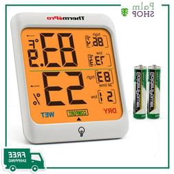 TP53 ThermoPro Digital LCD Indoor Hygrometer Thermometer Roo