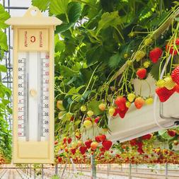 Traditional Greenhouse Wall Thermometer for Home Office Room