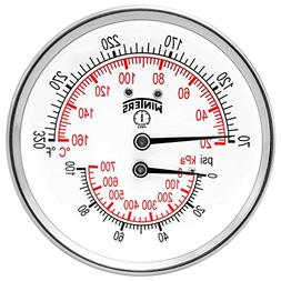 Winters TTD Series Steel Dual Scale Tridicator Thermometer w