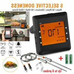 Up to 6 Probes Wireless Bluetooth BBQ Meat Thermometer Food