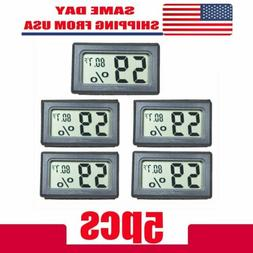 US 5 PCS Digital LCD Indoor Temperature Humidity Meter Therm