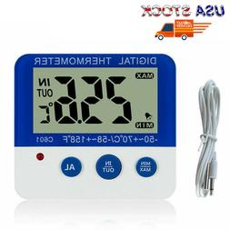 US Electronic Digital Thermometers ℃/℉ LED Home in/Out T