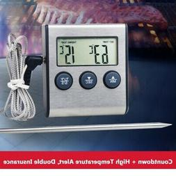 Kitchen Digital Probe Food Cooking Timer BBQ Oven Grill Meat