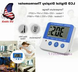 us led alarm digital thermometer w magnet