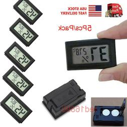 US Mini 5PCS Digital LCD Temperature Humidity Meter Home The