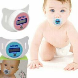 Newborn Baby Kids Safety Mouth Temp LCD Digital Pacifier Nip