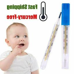 USA Mercury Free Glass Thermometer For Baby Kid Adult Medica