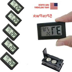 USA Mini 5PC Digital LCD Temperature Humidity Meter Home The