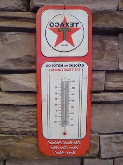 Vintage Retro Style Texaco Thermometer Sign Garage Oil Gas M