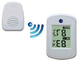 Ambient Weather White Wireless Thermometer With Indoor And O