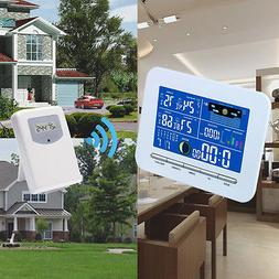 Wireless Color Display Weather Station Indoor Outdoor Thermo