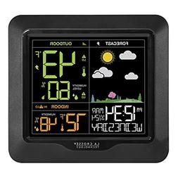 Wireless Color Weather Station with Atomic Date/Time Color F