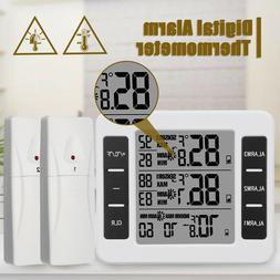 Wireless Digital Freezer Thermometer Indoor Outdoor Audible